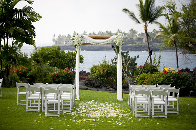 Wedding Ceremony at Sheraton Kona Resort