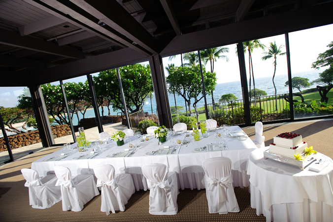Wedding Reception at Garden Room at Mauna Kea Beach Hotel