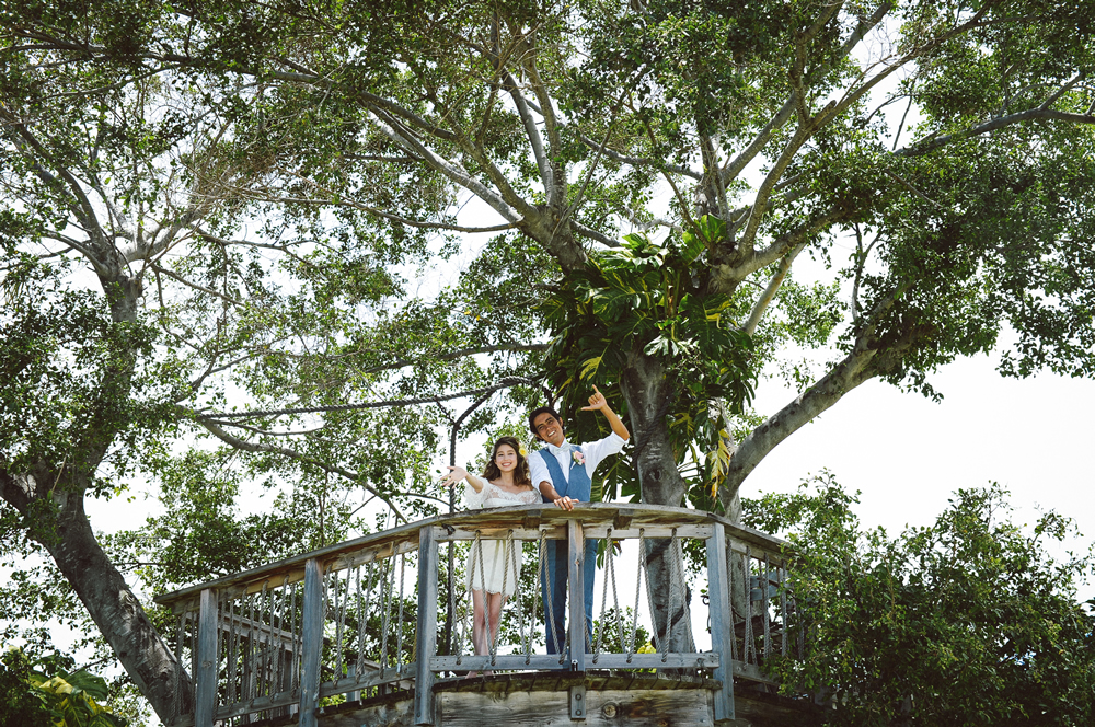 Tree House Hawaii Wedding Ceremony and Reception