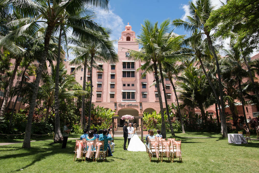 Royal Hawaiian Hotel Coconut Grove Garden Reception