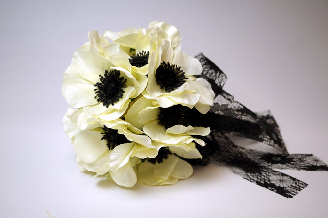 White Mini Anemone Bouquet