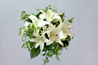 White Lilly Round Bouquet