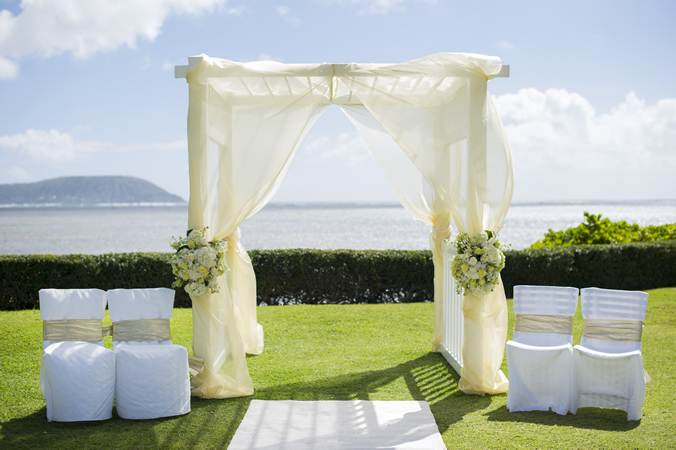 The Kahala Koko Head Lawn Ocean Wedding