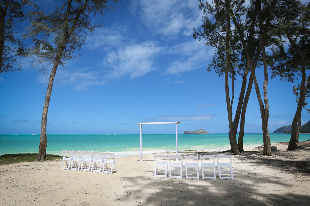 Waimanalo Beach Cottage Wedding